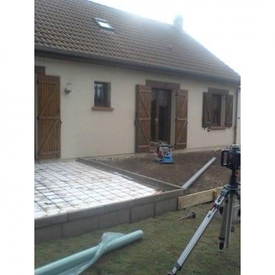 Fondations extension et terrasse avant 400x400