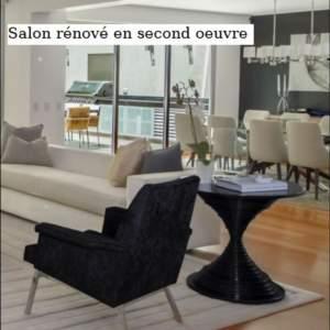 Salon rénové en second oeuvre