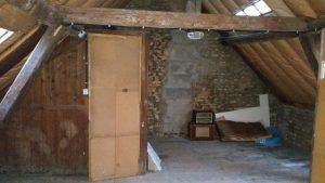 Rénovation maison Amiens avec la menuiserie, l'ouverture d'un mur porteur, la salle de bain, le carrelage, l'électricité, l'aménagement des combles